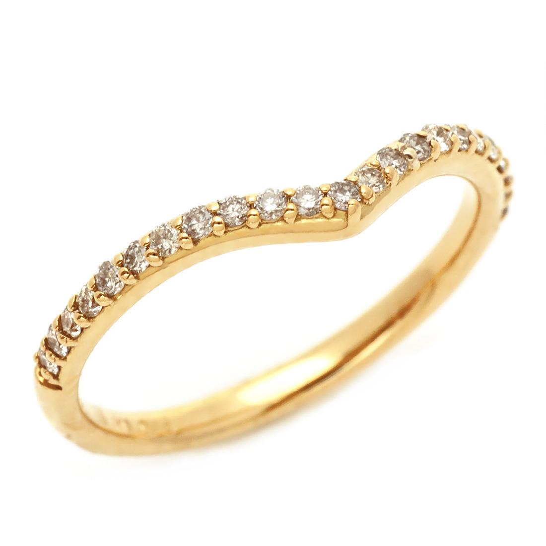 【GWクーポン配布中】エタニティーリング ダイヤモンド 0.15ct Vライン ゴールド K18 送料無料