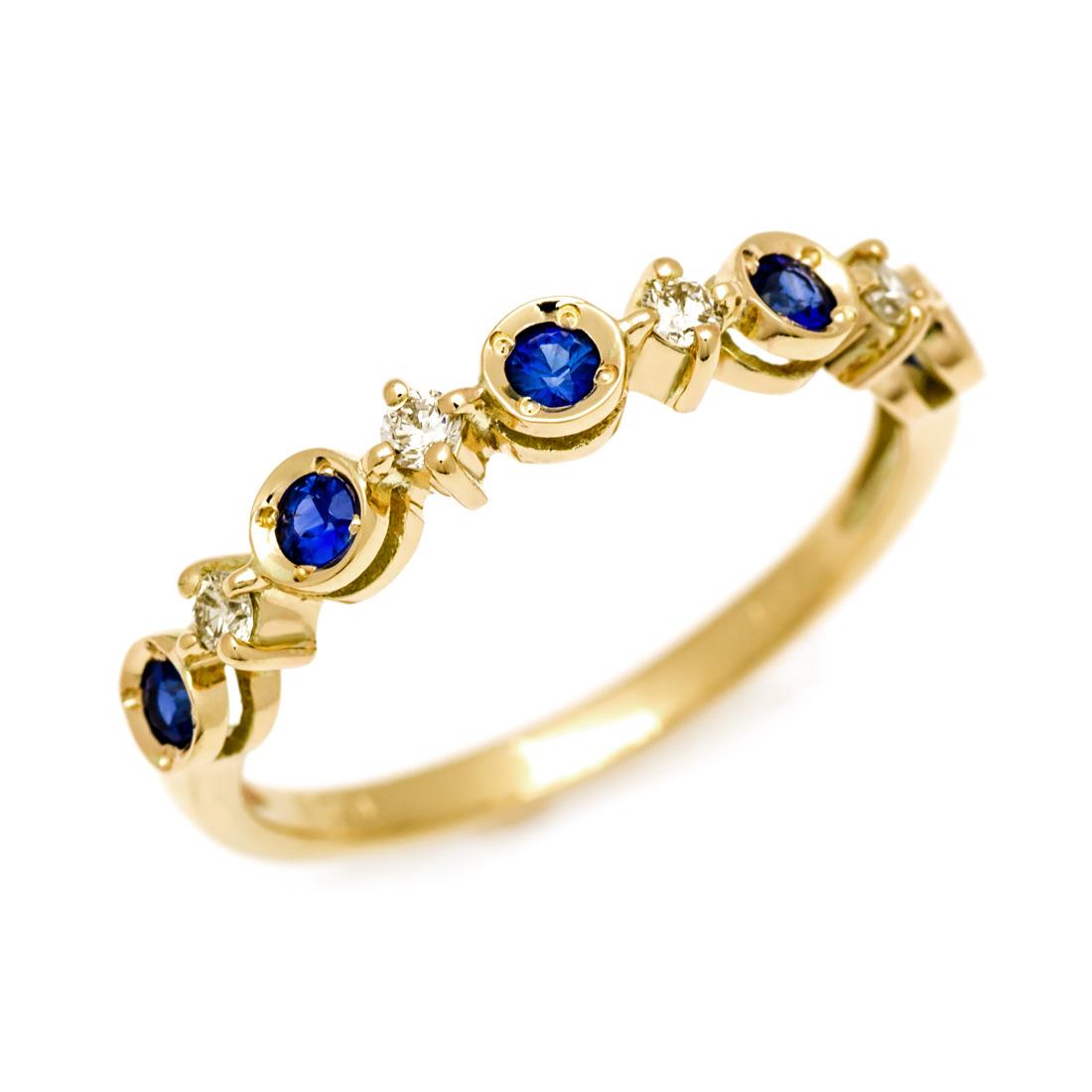 リング ブルーサファイア ダイヤモンド ゴールド K10