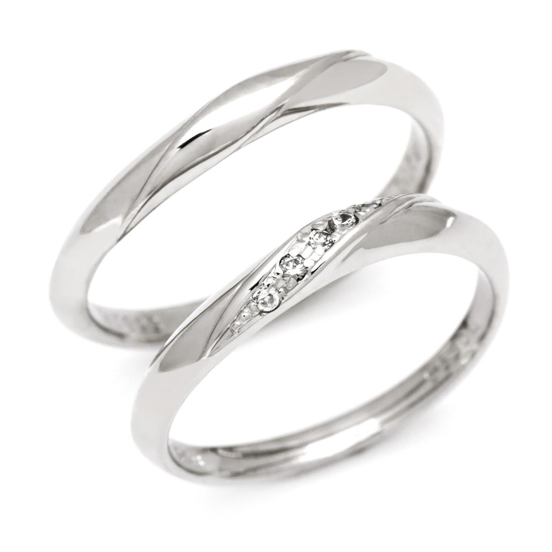 マリッジリング ダイヤモンド 「Silk」 プラチナ900 (レディース:1~20号 メンズ:10~29号)