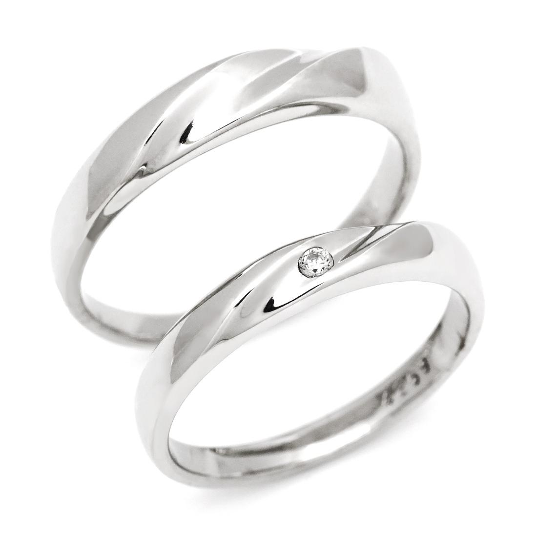 マリッジリング ダイヤモンド 「Line」 プラチナ900 (レディース:1~20号 メンズ:10~29号)