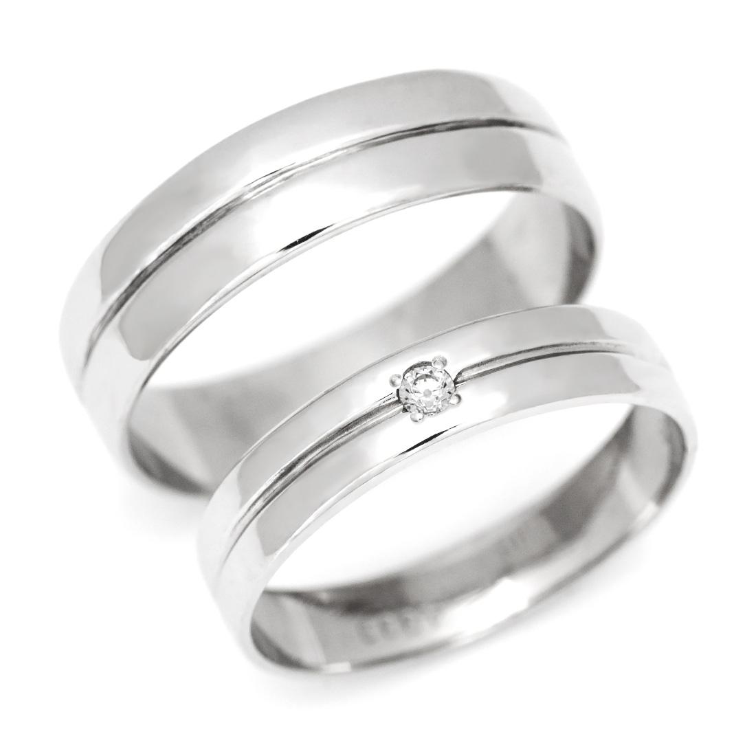 【GWクーポン配布中】マリッジリング ダイヤモンド 「Flat」 プラチナ900 (レディース:1~20号 メンズ:10~29号)