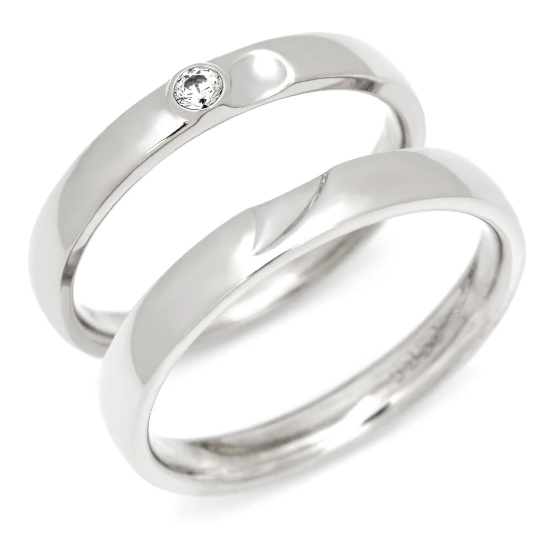 【GWクーポン配布中】マリッジリング ダイヤモンド 「Together」 ゴールド K18 (レディース:1~20号 メンズ:10~29号)