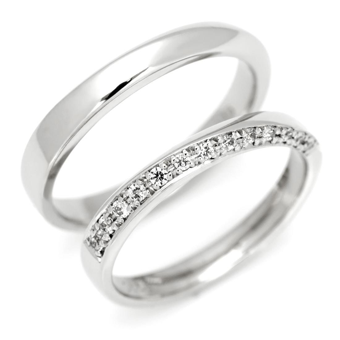 【GWクーポン配布中】マリッジリング ダイヤモンド 「Balance」 プラチナ900 (レディース:1~20号 メンズ:10~29号)
