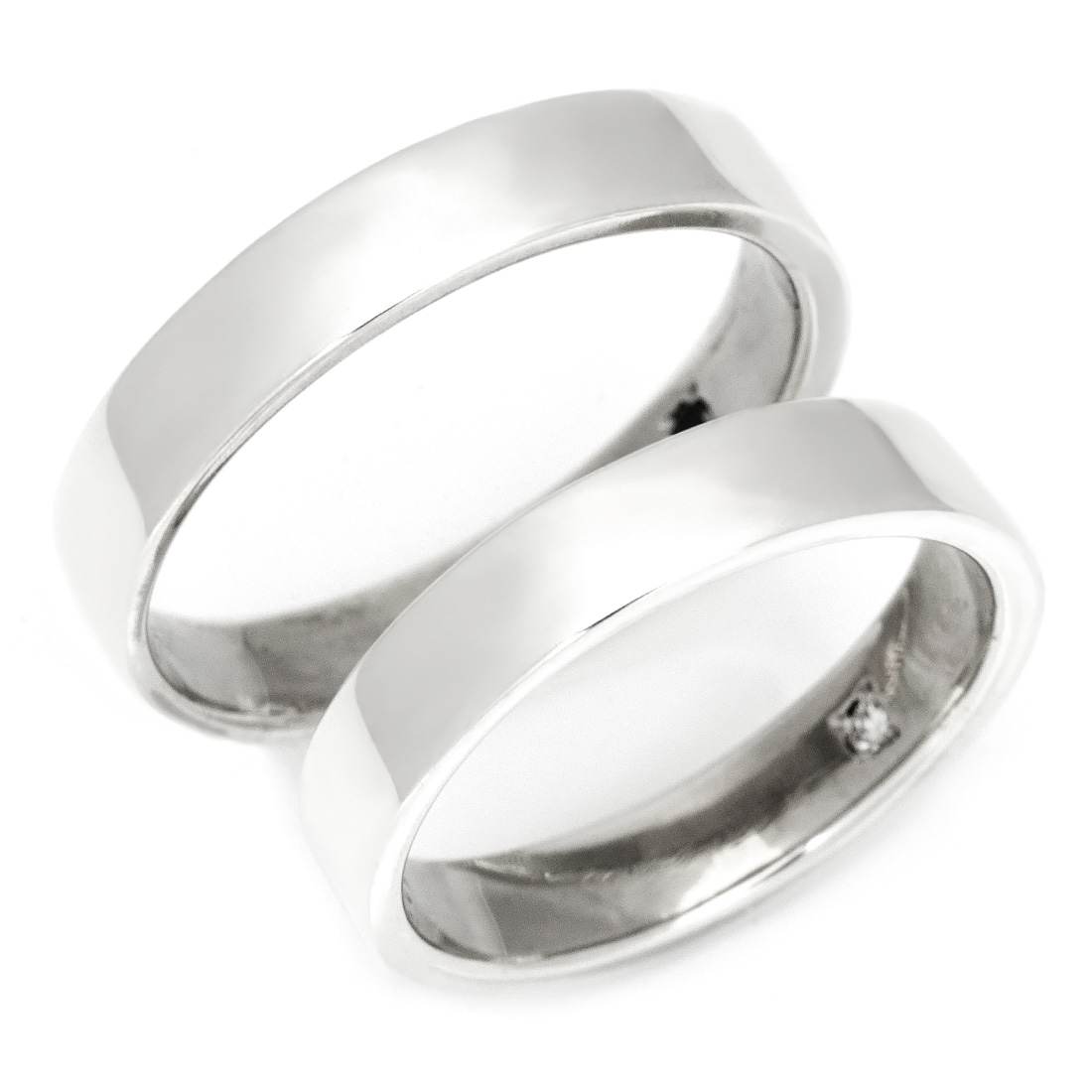 【GWクーポン配布中】マリッジリング ダイヤモンド 「Plate」 プラチナ900 (レディース:1~20号 メンズ:10~29号)