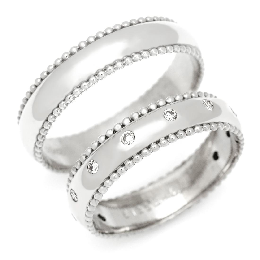 マリッジリング ダイヤモンド 「Polkadots」 プラチナ900 (レディース:1~20号 メンズ:10~29号)