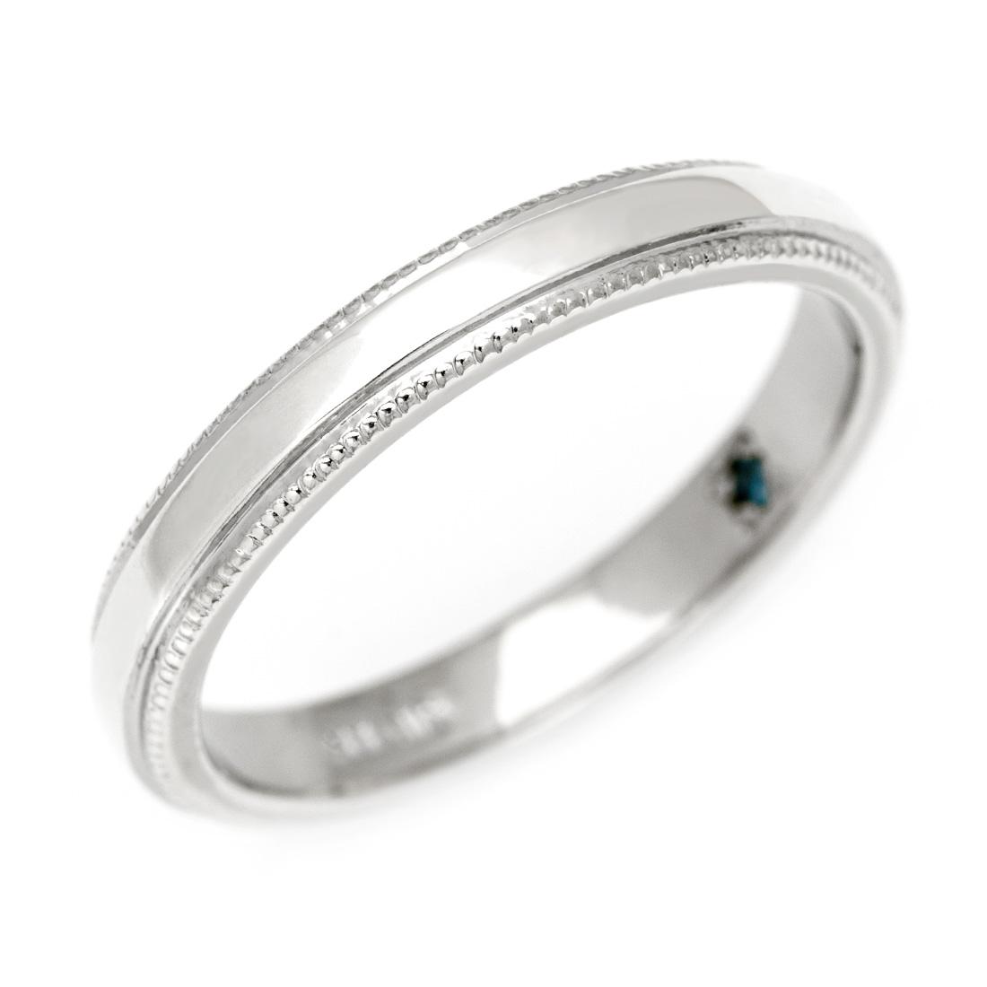マリッジリング ダイヤモンド 「Grain」 プラチナ900 (メンズ 10-29号)