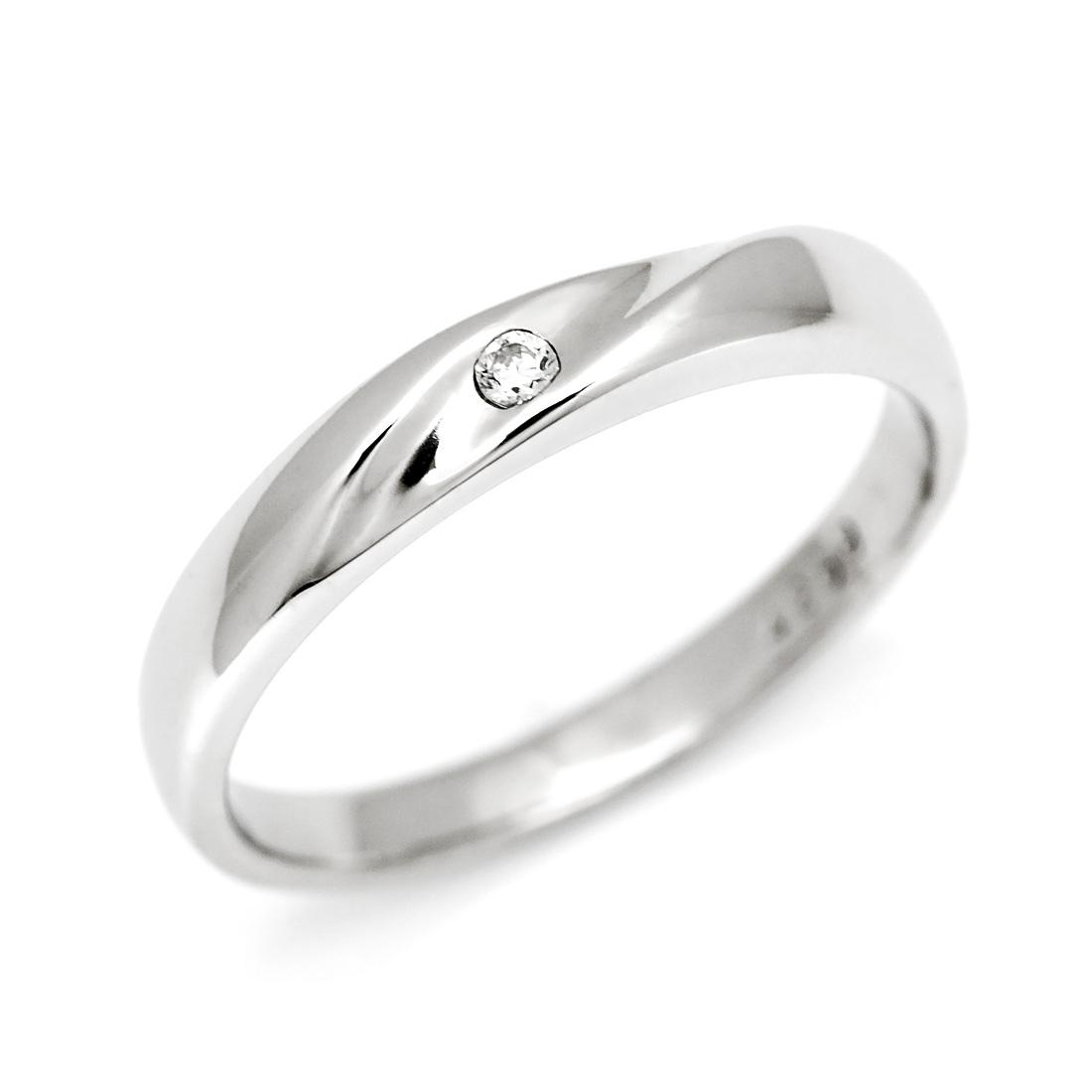 マリッジリング ダイヤモンド 「Melt」 プラチナ900 (レディース:1~20号)