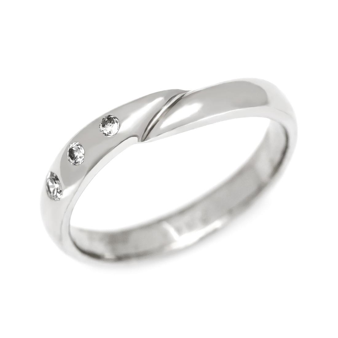 【GWクーポン配布中】マリッジリング ダイヤモンド 「Hold」 プラチナ900 (レディース:1~20号)
