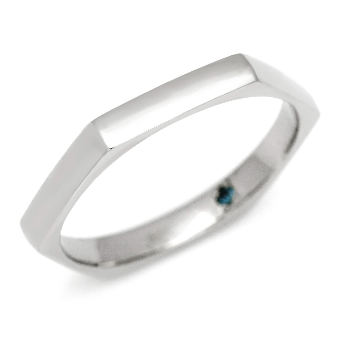 【GWクーポン配布中】マリッジリング ブルーダイヤモンド 「Promise」 プラチナ900 (メンズ:10~29号)