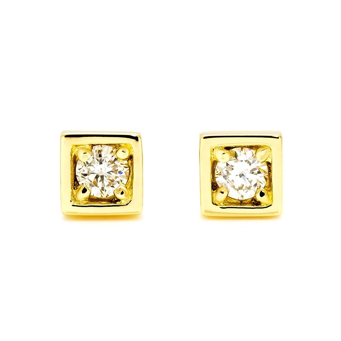 【GWクーポン配布中】スタッドピアス ダイヤモンド 「certo」 ゴールド K18 送料無料