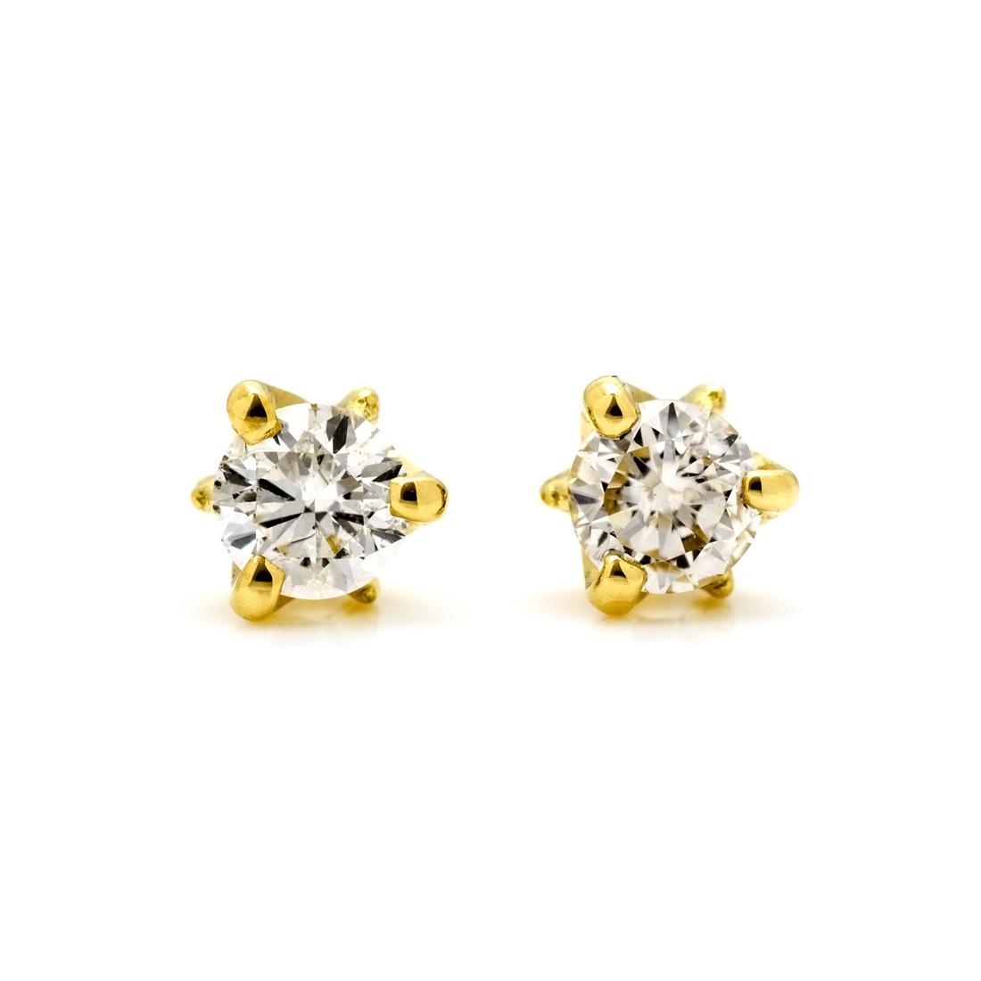 【GWクーポン配布中】スタッドピアス ダイヤモンド 0.2ct 「Decora」 ゴールド K18 送料無料