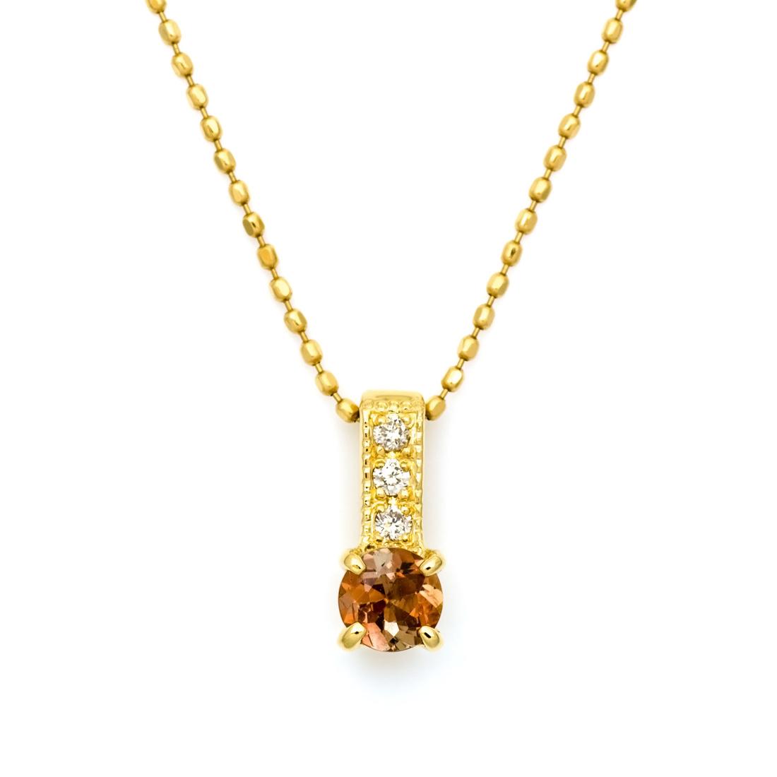 【GWクーポン配布中】ペンダントトップ アンダルサイト ダイヤモンド 「fiorito」 ゴールド K18 送料無料