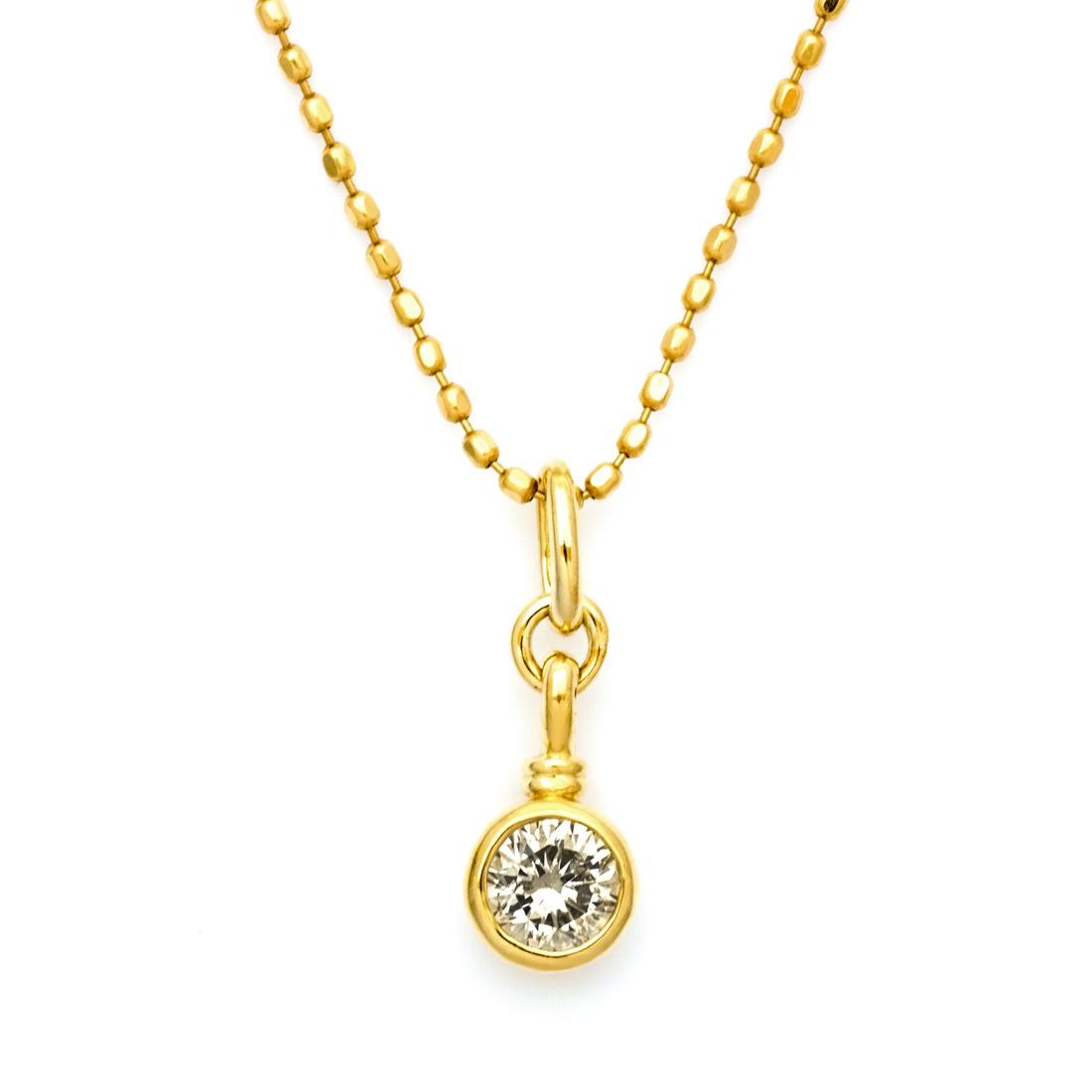 【GWクーポン配布中】ペンダントトップ ダイヤモンド 「tremolio」 ゴールド K18 送料無料