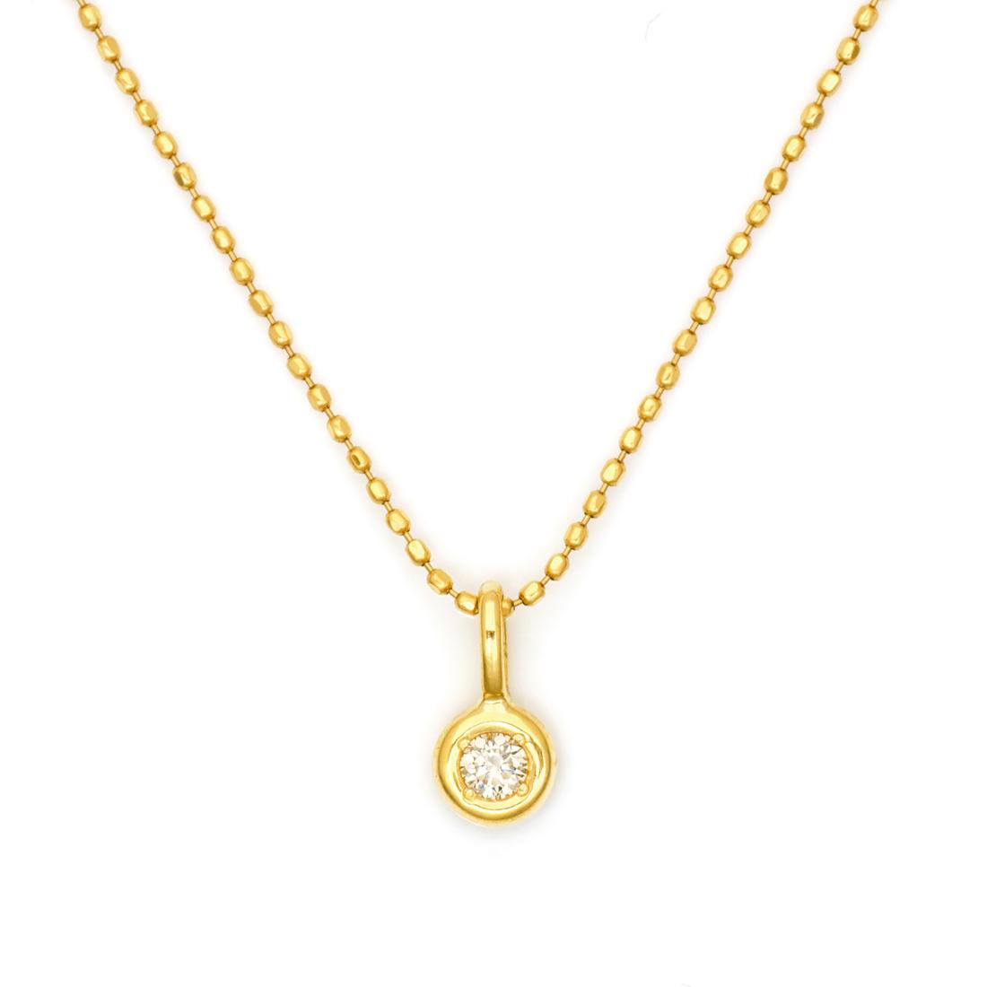 【3営業日以内に発送】 ペンダントトップ ダイヤモンド 0.05ct ゴールド K18 「piccolo」
