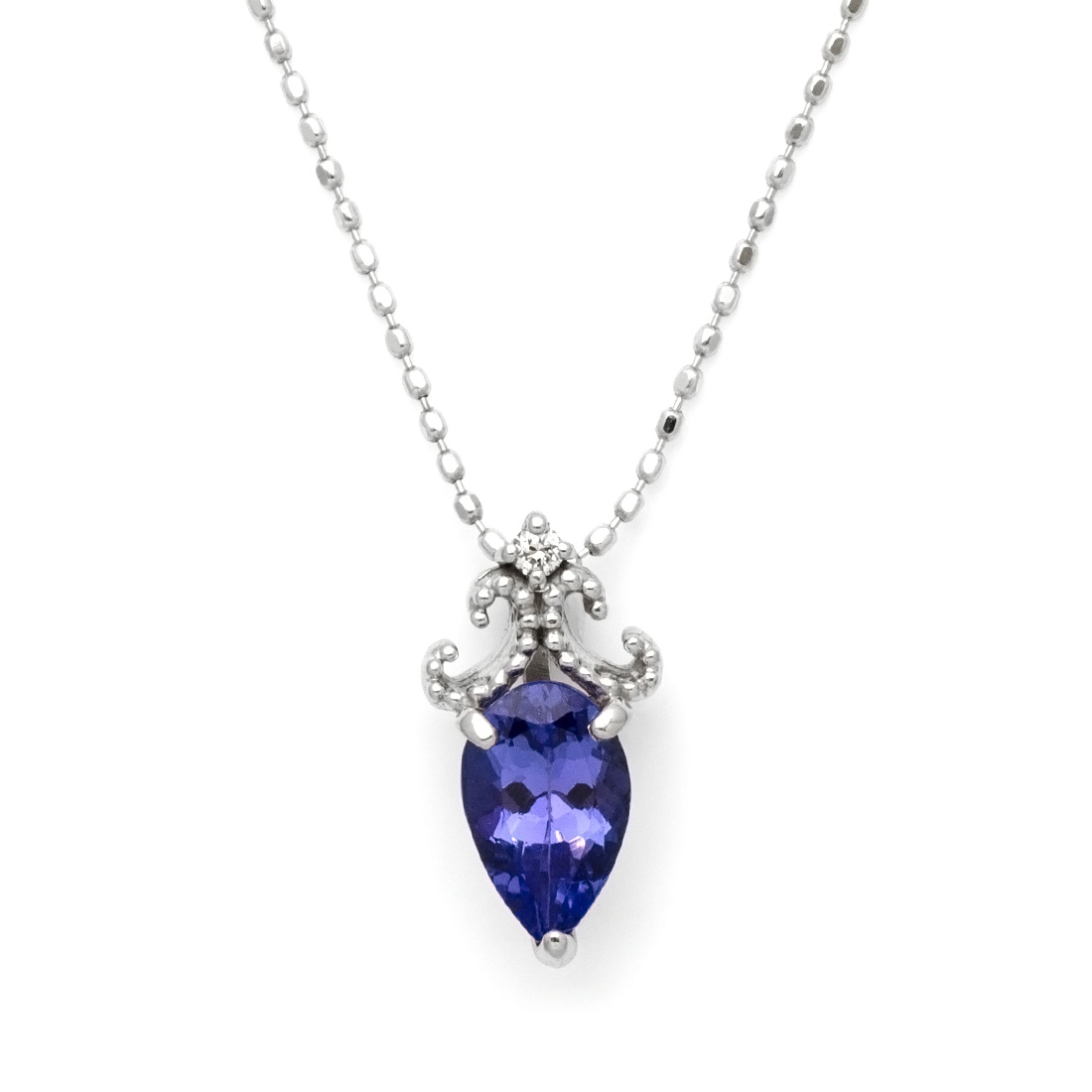 K18 タンザナイト0.8ct ダイヤモンド ペンダントトップ 「arcadia」 ネックレス ブルーゾイサイト ダイアモンド 誕生日 12月誕生石 18K 18金 ゴールド 記念日 メッセージ ギフト 贈り物