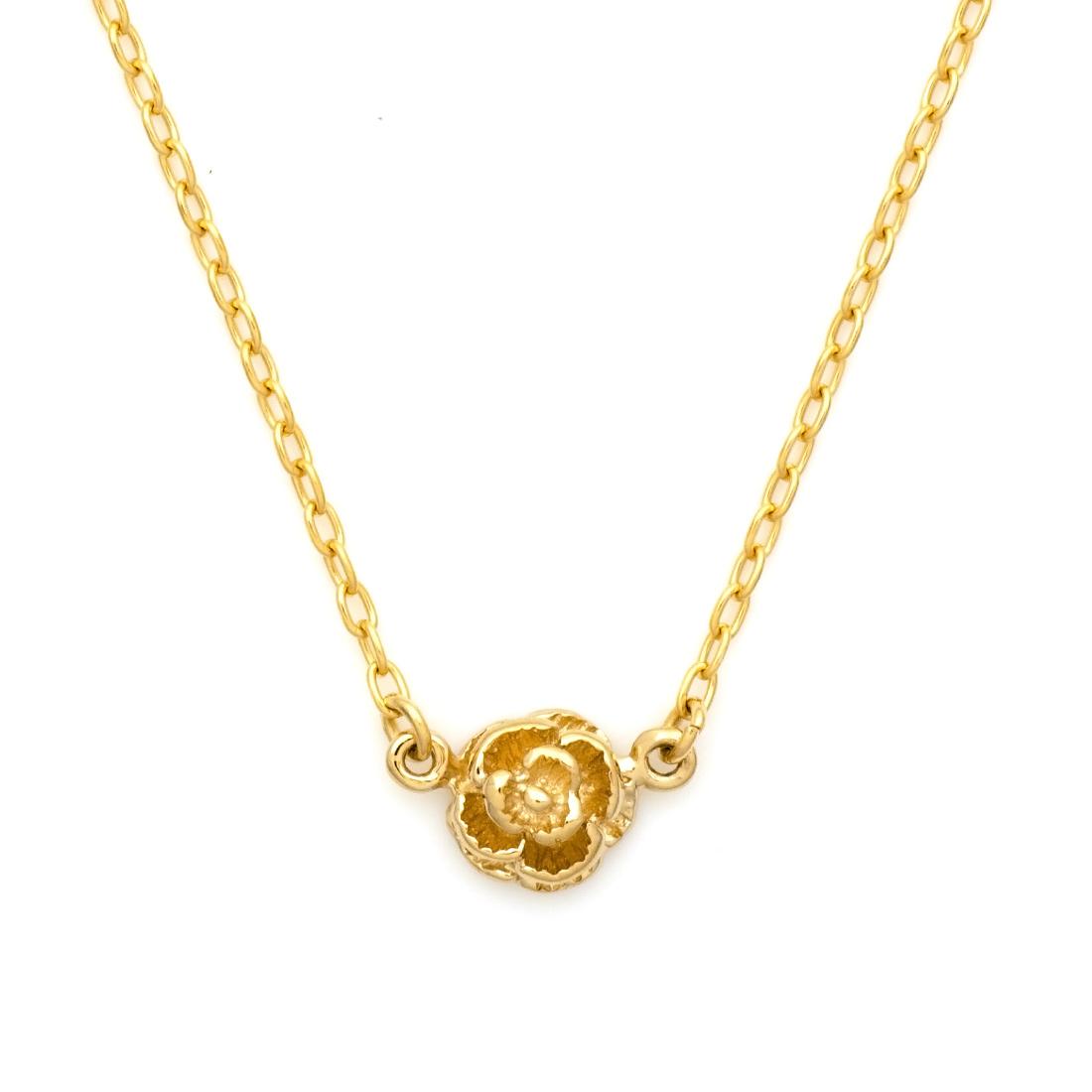 【GWクーポン配布中】ネックレス バラモチーフ 「rosa」 ゴールド K18 送料無料