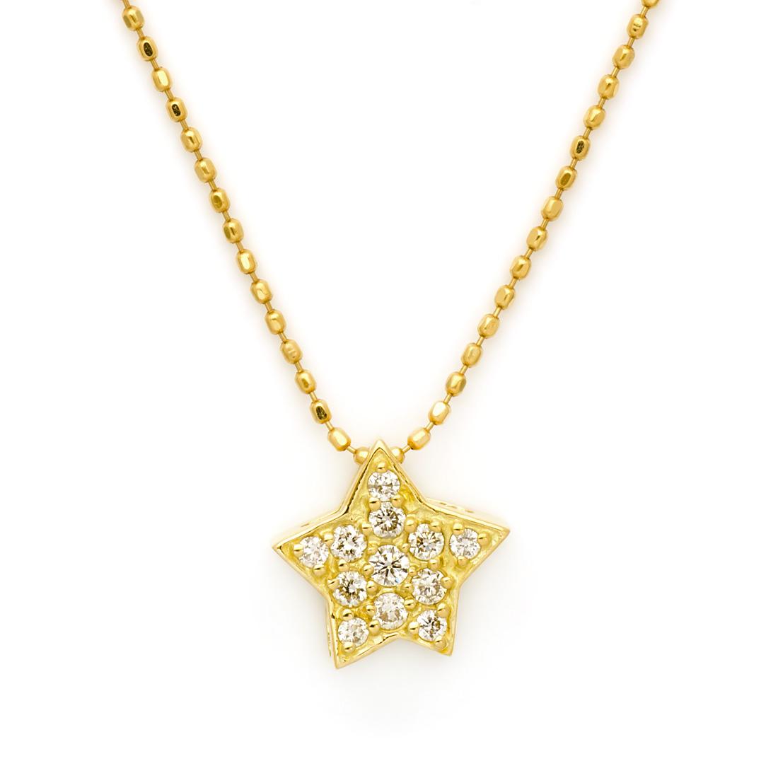 K18 ダイヤモンド 0.15ct スターモチーフ ペンダントトップ 「astro」送料無料 ネックレス ゴールド 18K 18金 ダイアモンド 誕生日 4月誕生石 記念日 メッセージ ギフト 贈り物