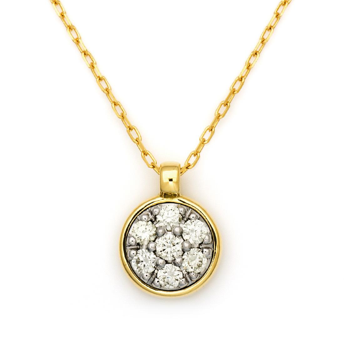 【GWクーポン配布中】ペンダント ダイヤモンド 「mirror」 プラチナ900 ゴールド K18 コンビネーション アズキチェーン 送料無料