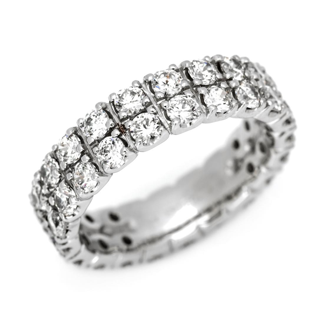 【GWクーポン配布中】フルエタニティーリング ダイヤモンド 2カラット プラチナ900 送料無料