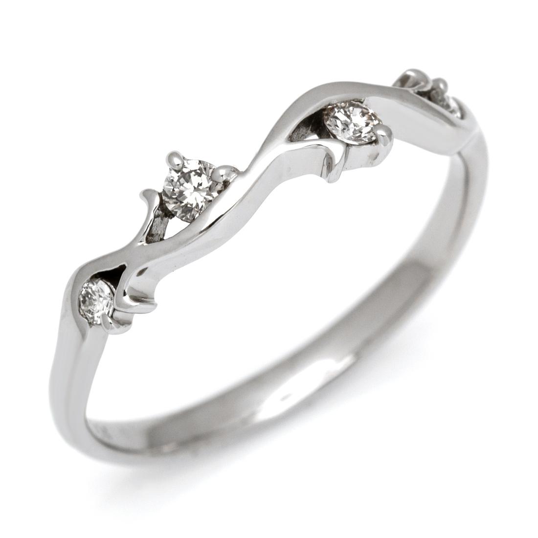 【GWクーポン配布中】K18 ダイヤモンド リング送料無料 指輪 ダイアモンド ゴールド 18K 18金 誕生日 4月誕生石 刻印 文字入れ メッセージ ギフト 贈り物 ピンキーリング対応可能