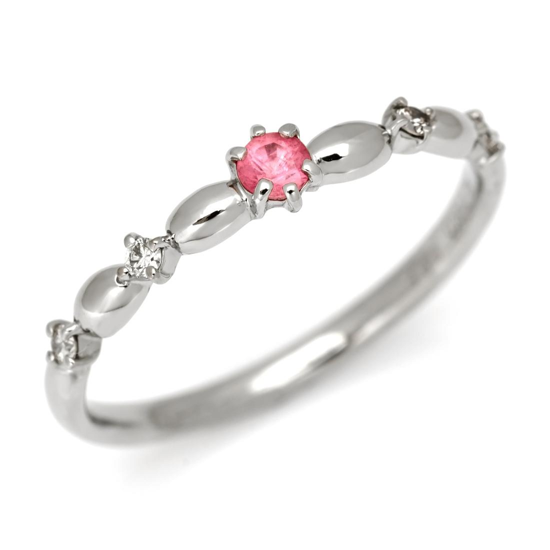 PT900 ロードクロサイト ダイヤモンド リング 「tempista」 指輪 プラチナ900 スイートホーム鉱山産 ダイアモンド 希少石 レアストーン 刻印 文字入れ メッセージ ギフト 贈り物 ピンキーリング対応可能
