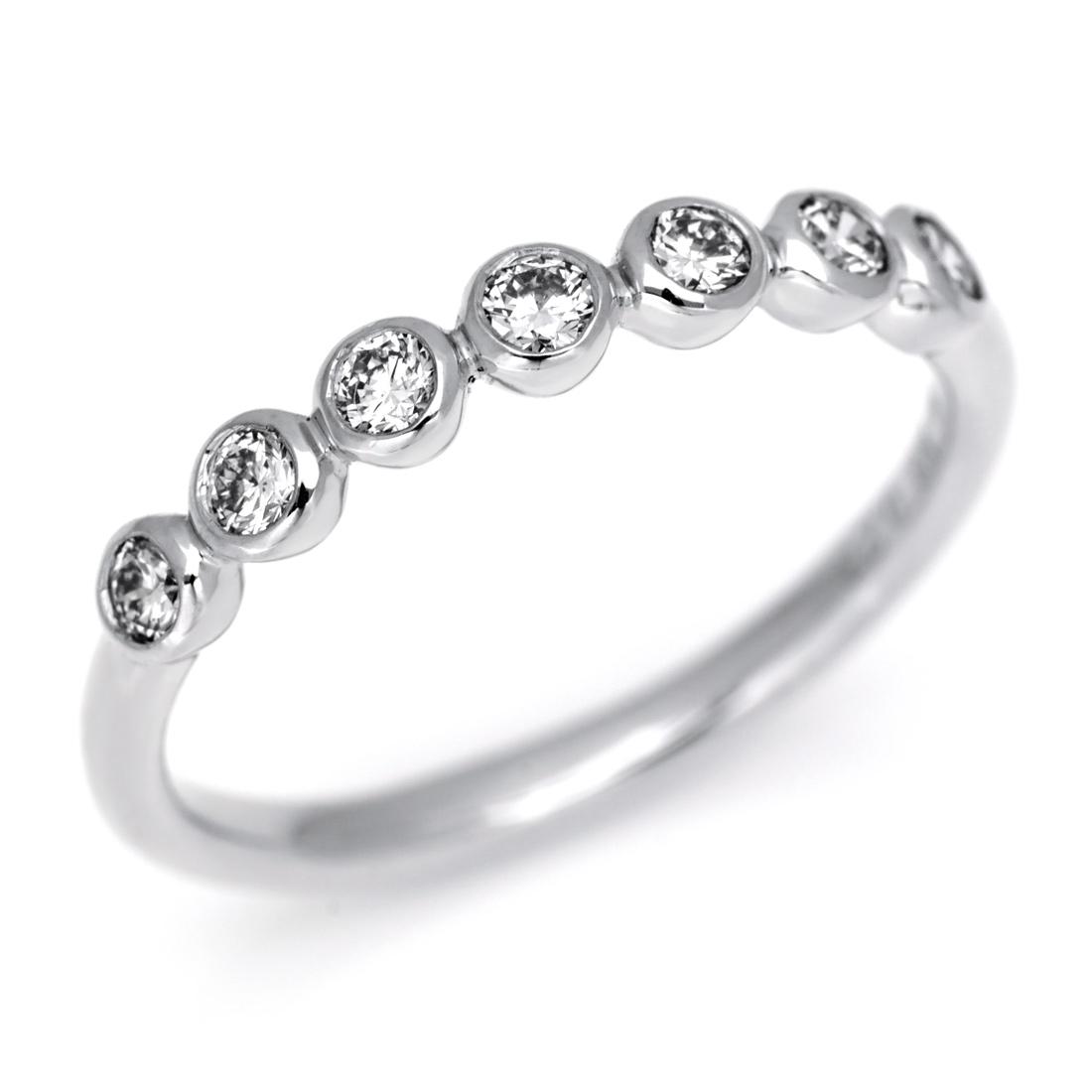K18 ダイヤモンド リング 「ponte」 指輪 ダイアモンド ゴールド 18K 18金 誕生日 4月誕生石 刻印 文字入れ メッセージ ギフト 贈り物 ピンキーリング対応可能