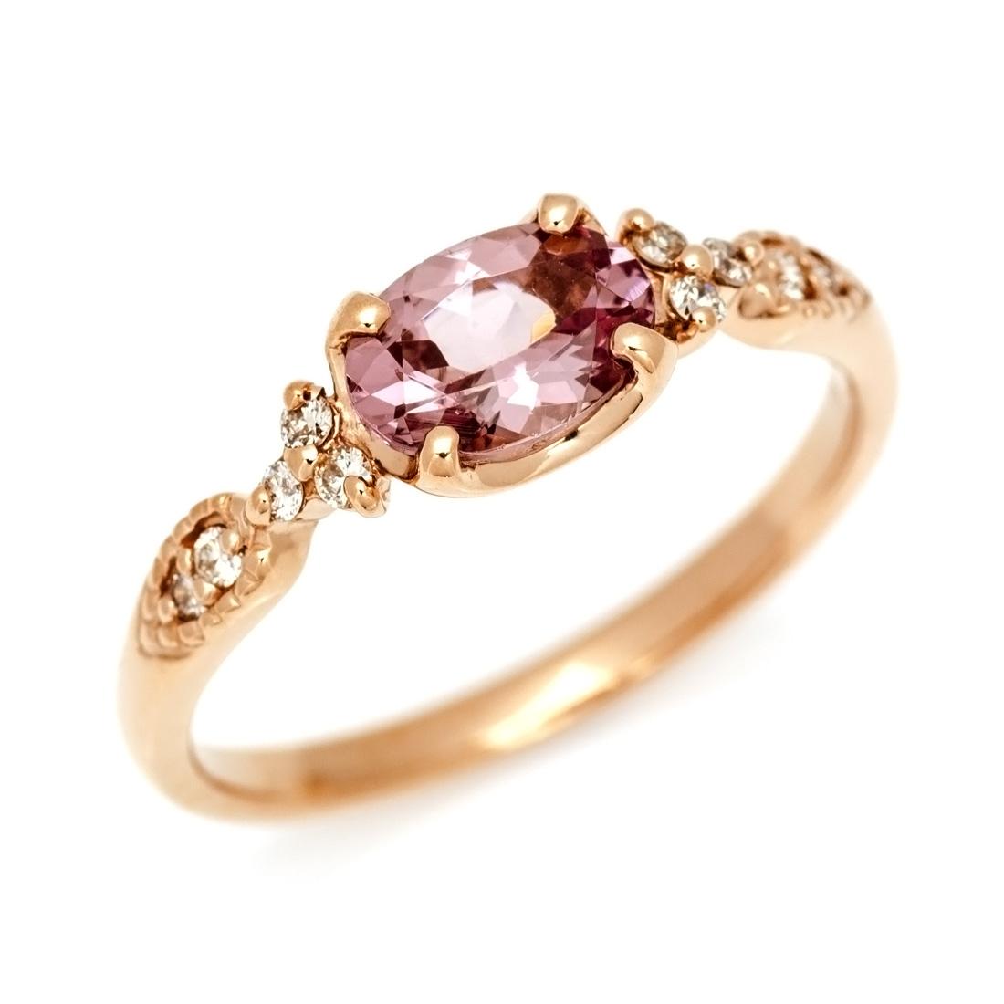 【GWクーポン配布中】リング シャンパンガーネット ダイヤモンド 「amanza」 ゴールド K18 送料無料