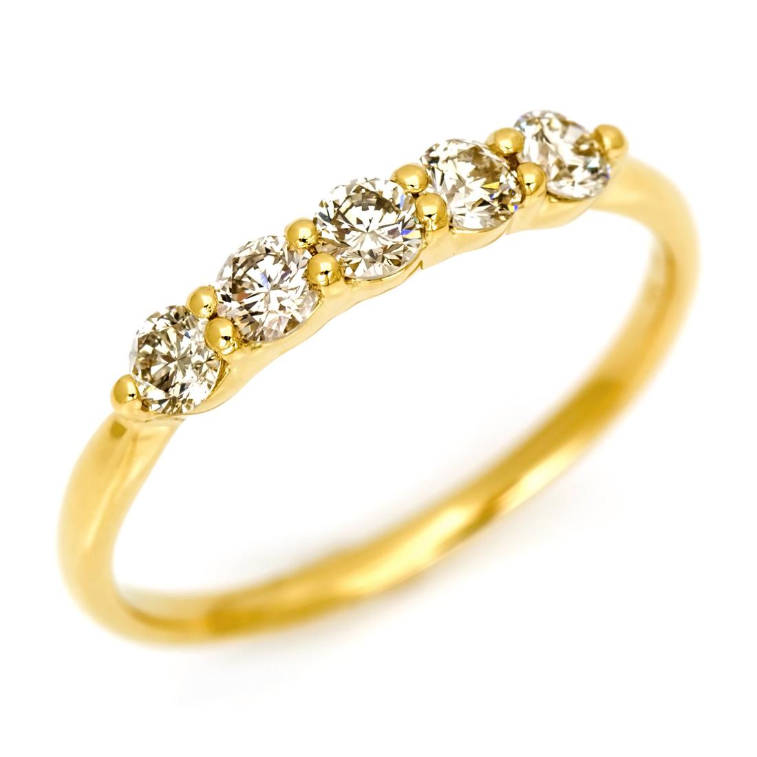 【GWクーポン配布中】K18 ダイヤモンド リング 「clarita」送料無料 指輪 ダイアモンド ストレート ファランジ 18K 18金 ゴールド 誕生日 4月誕生石 記念日 ピンキーリング対応可能 ギフト包装 贈り物