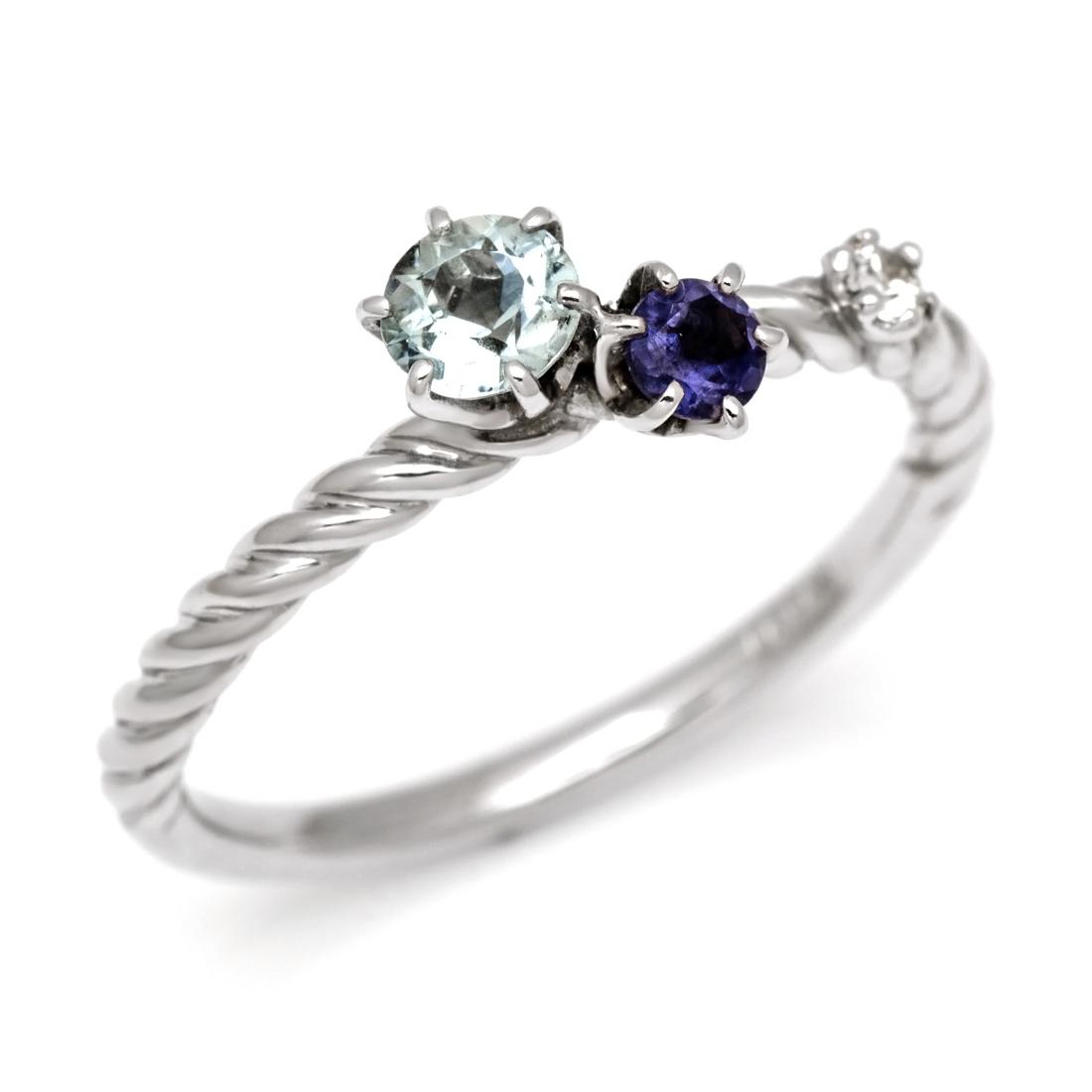 【GWクーポン配布中】リング クールカラー ダイヤモンド 「galassia」 ゴールド K18 送料無料