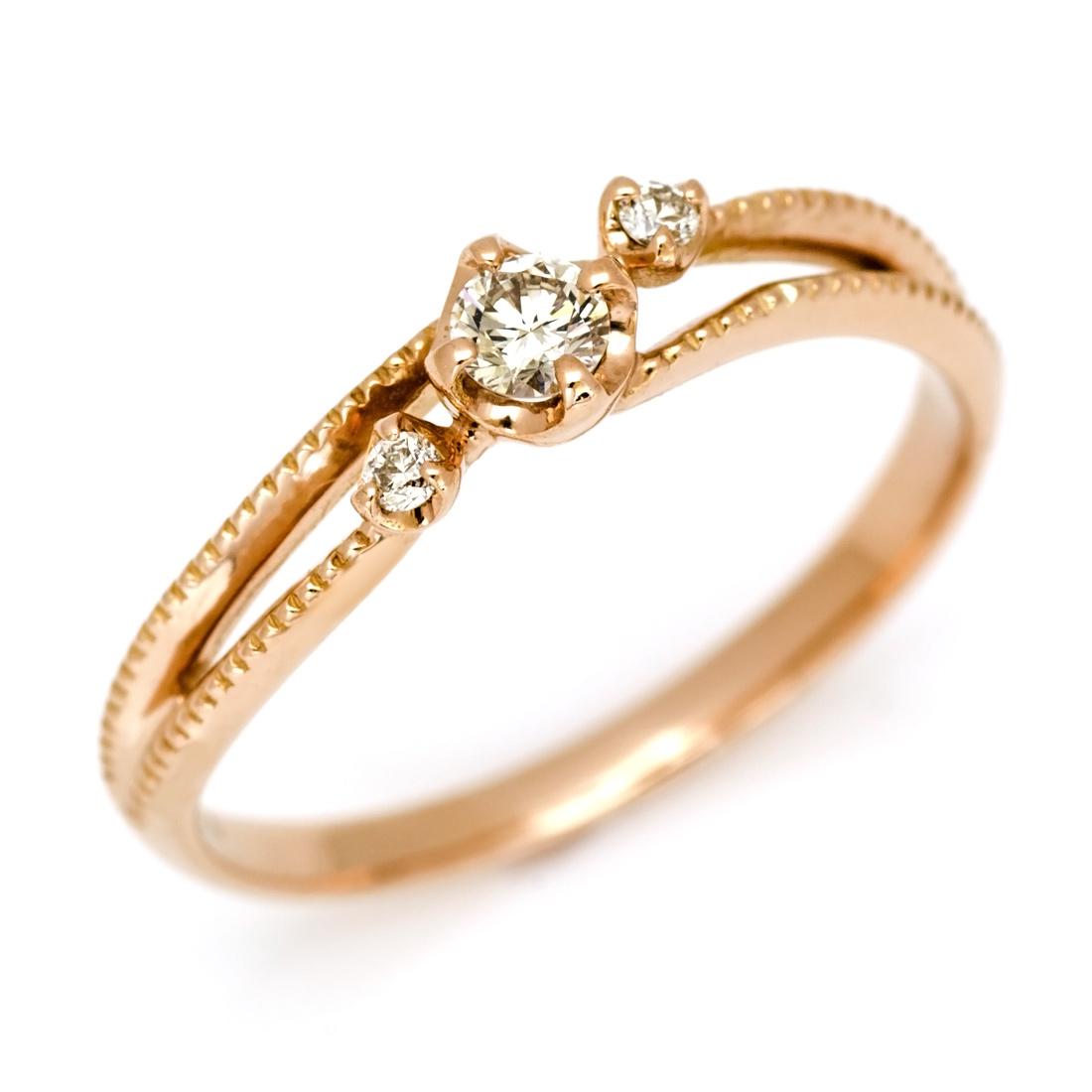 【GWクーポン配布中】リング ダイヤモンド ゴールド K18 「cresta」 送料無料