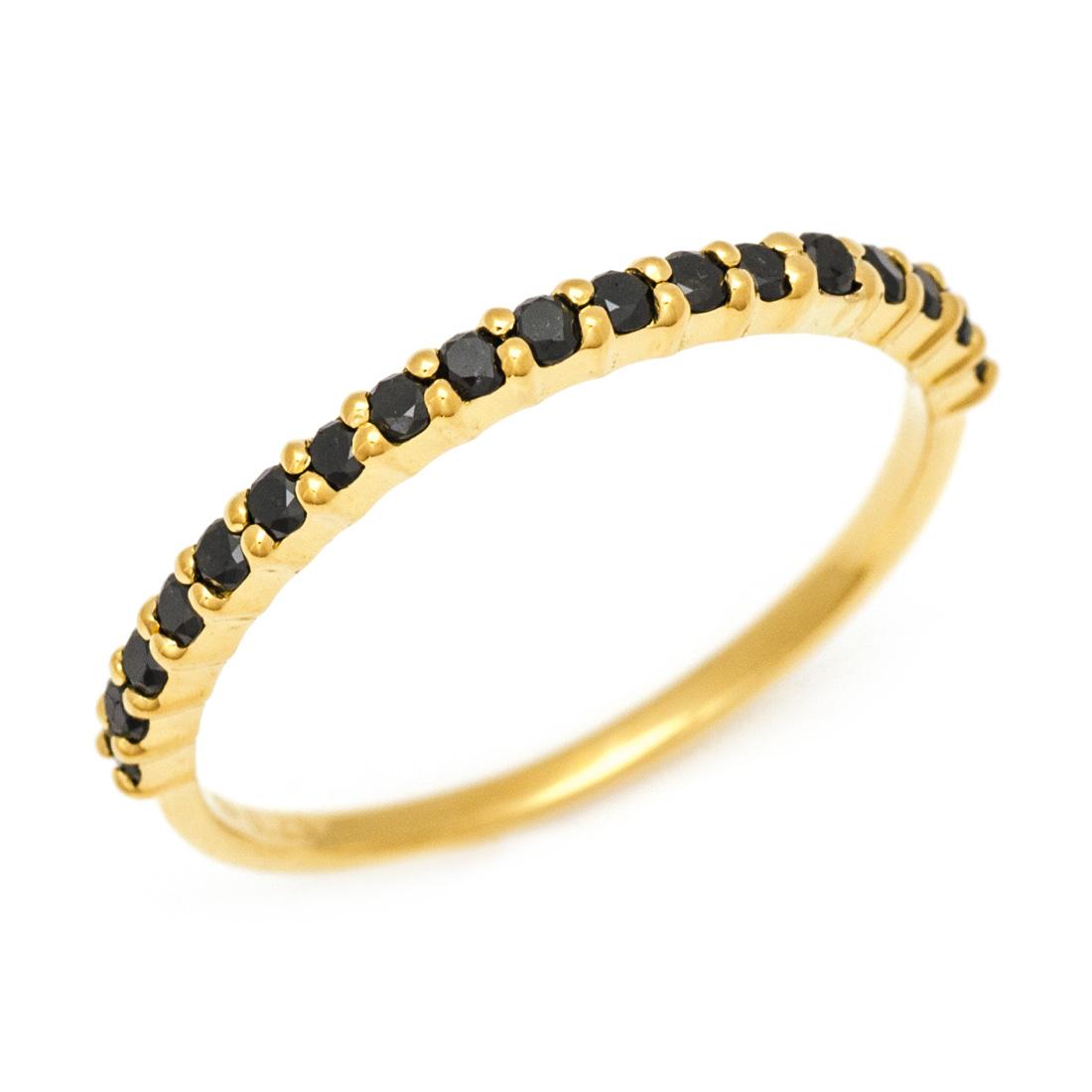 【GWクーポン配布中】K18 ブラックダイヤモンド 0.25ct エタニティリング 「fila」送料無料 指輪 ゴールド 18K 18金 ダイアモンド エタニティー 誕生日 4月誕生石 メッセージ ギフト 贈り物 ピンキーリング対応可能
