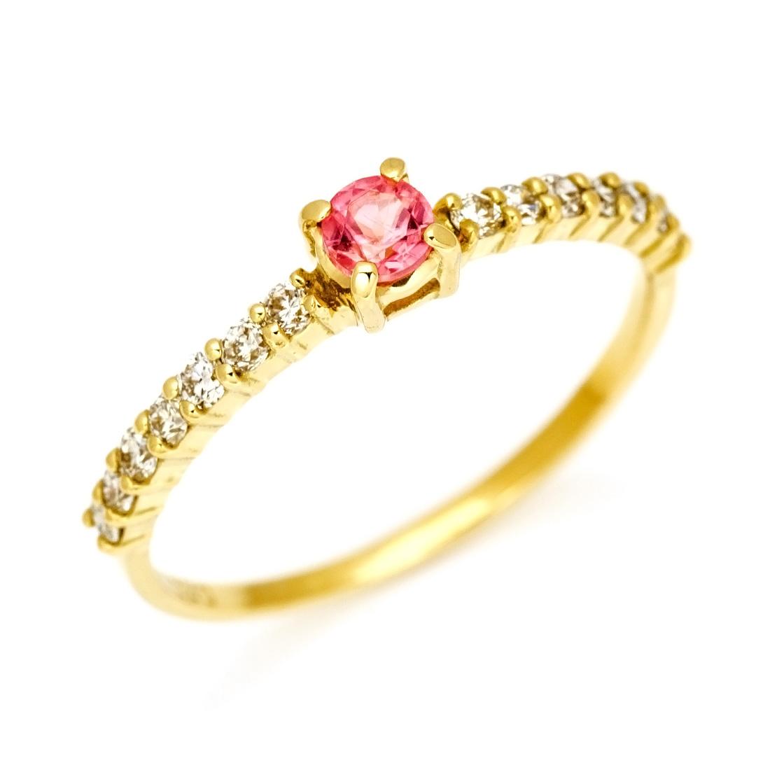 【GWクーポン配布中】リング ロードクロサイト ダイヤモンド 「fine」 ゴールド K18 送料無料