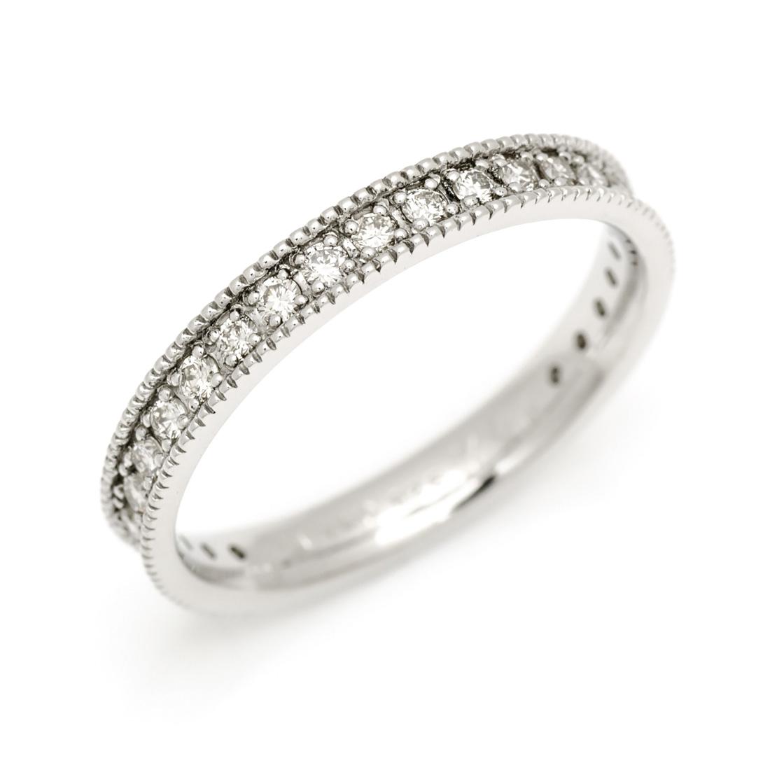 【GWクーポン配布中】K18 ダイヤモンド 0.25ct ミルグレイン エタニティリング 「gala」送料無料 指輪 ゴールド 18K 18金 ダイアモンド エタニティーリング ミル打ち 誕生日 4月誕生石 刻印 文字入れ メッセージ ギフト 贈り物 ピンキーリング対応可能