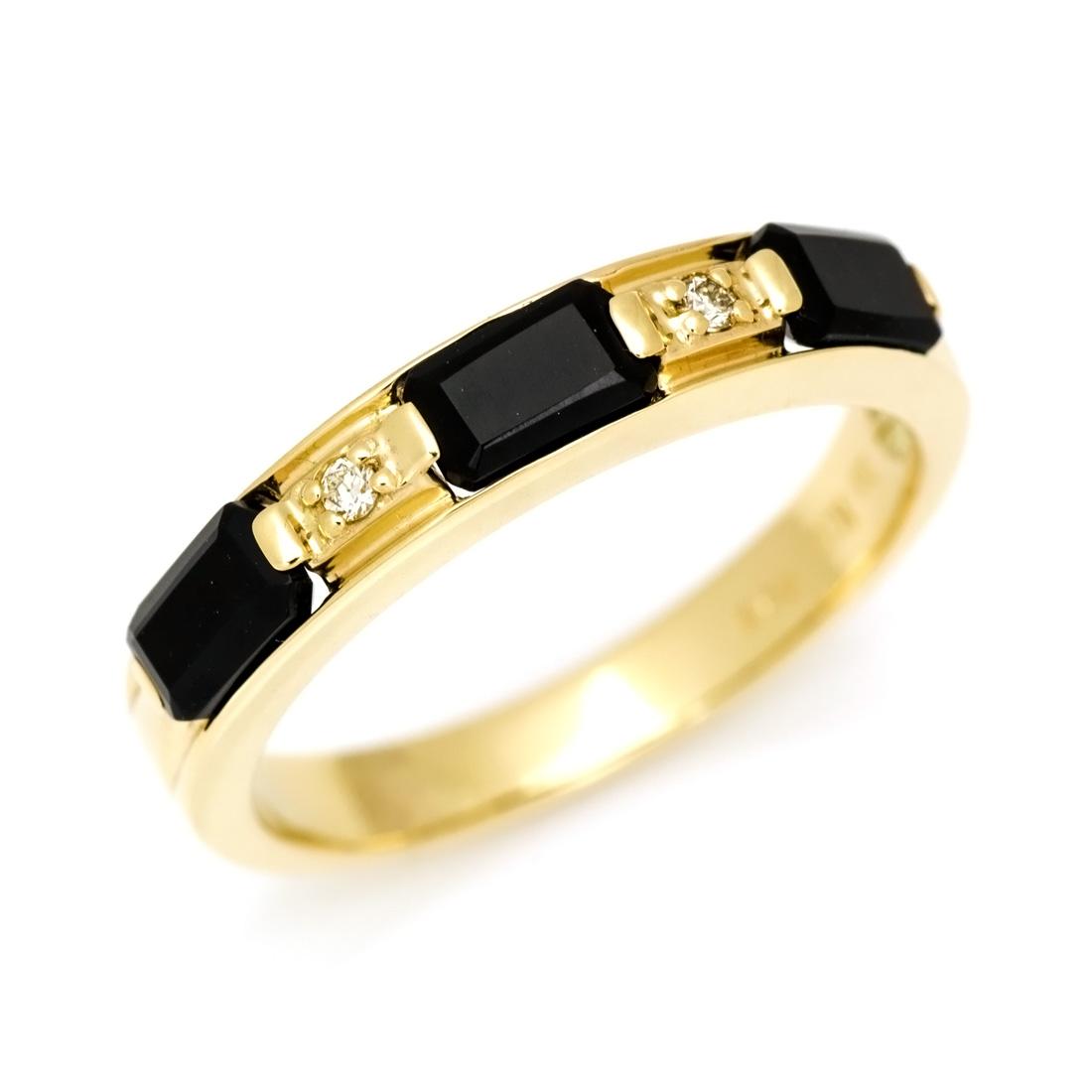 K10 オクタゴンカット オニキス ダイヤモンド リング 「lucente」送料無料 指輪 ゴールド 10K 10金 ダイアモンド 刻印 文字入れ メッセージ ギフト 贈り物 ピンキーリング対応可能