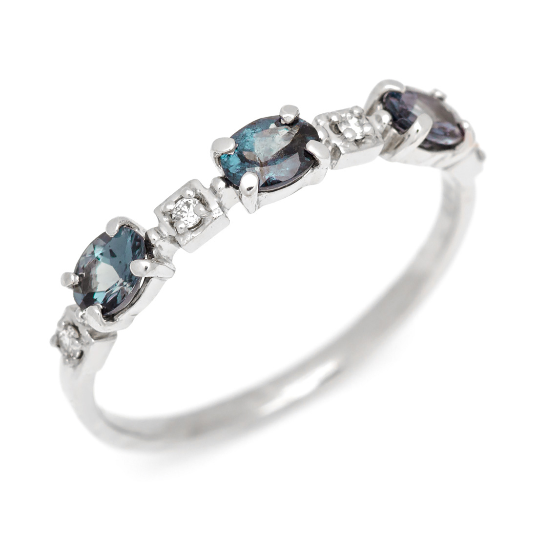 【GWクーポン配布中】K18 カラーチェンジガーネットダイヤモンド リング 「purezza」送料無料 指輪 ゴールド 18K 18金 ダイアモンド 誕生日 1月誕生石 刻印 文字入れ メッセージ ギフト 贈り物 ピンキーリング対応可能