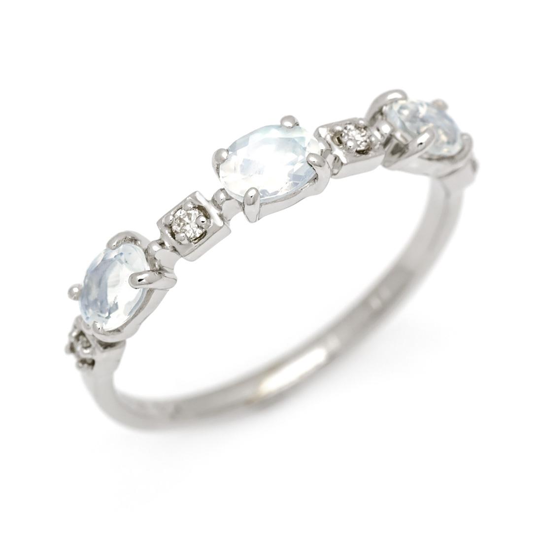 【GWクーポン配布中】K10 ブルームーンストーン ダイヤモンド リング 「purezza」送料無料 指輪 ゴールド 10K 10金 ダイアモンド 誕生日 6月誕生石 刻印 文字入れ メッセージ ギフト 贈り物 ピンキーリング対応可能