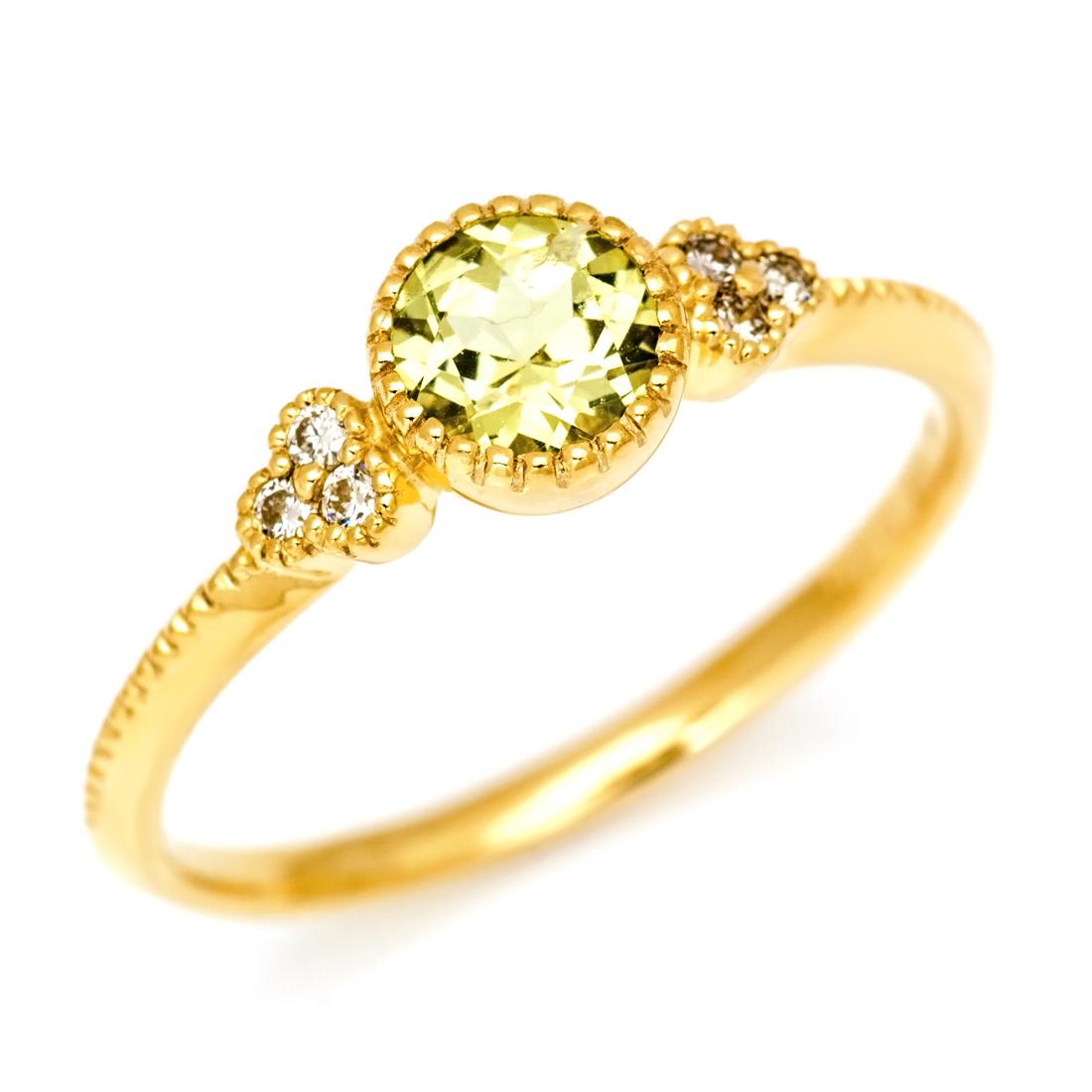 リング マリガーネット ダイヤモンド 「tazzina」 ゴールド K18