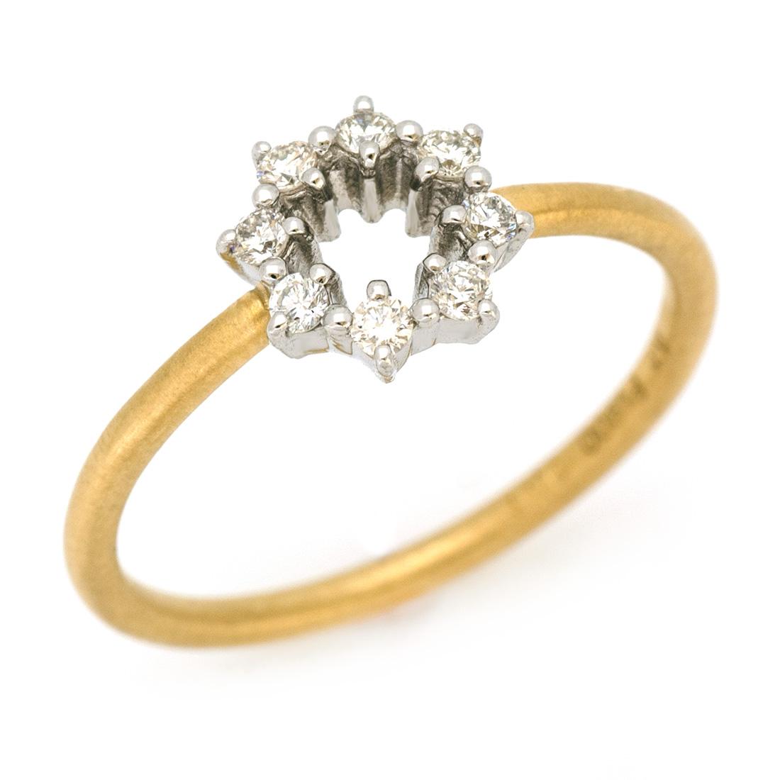 【GWクーポン配布中】リング ダイヤモンド 「Crystal」 プラチナ900 ゴールド K18 コンビネーション 送料無料