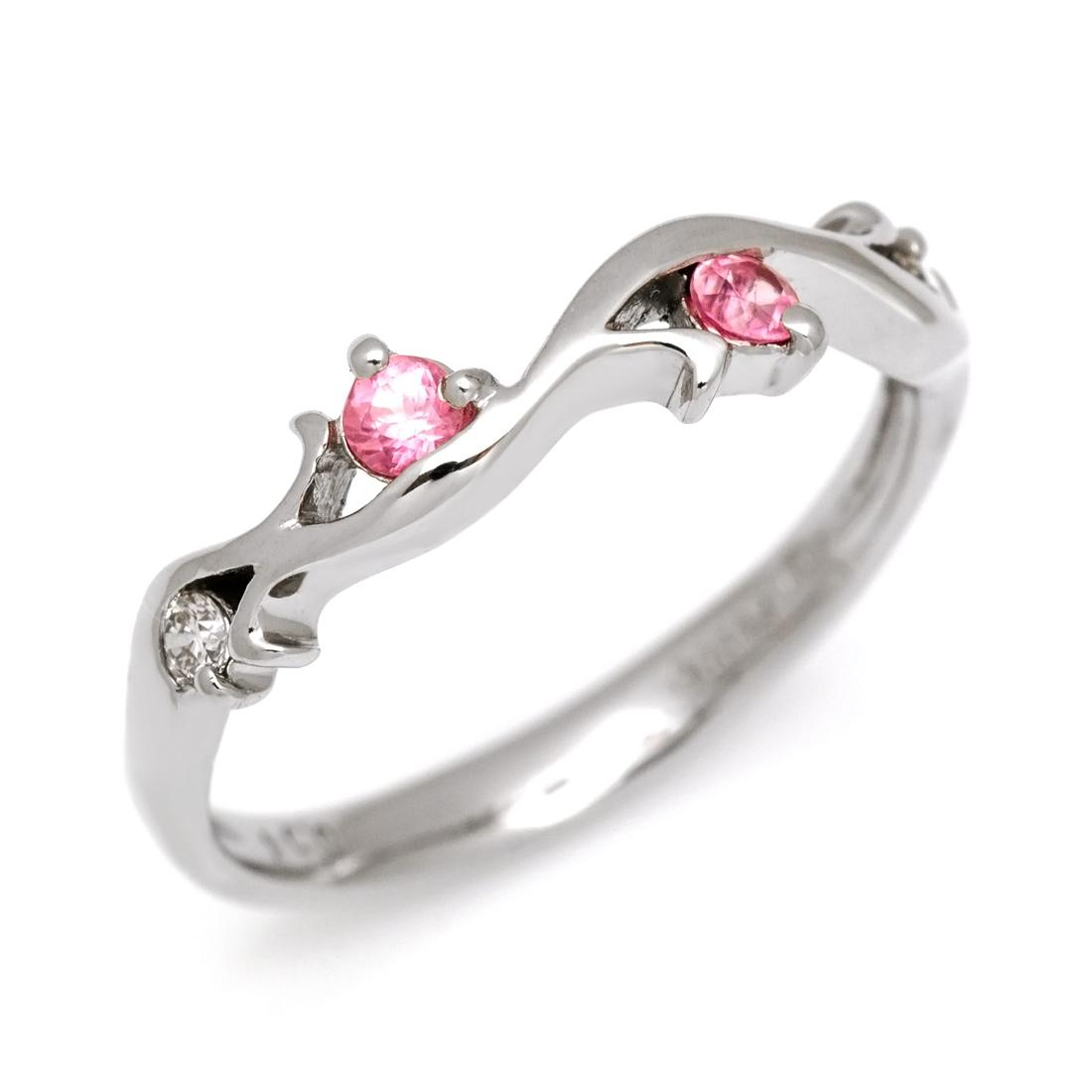 【即日発送可能】【9号】リング ロードクロサイト ダイヤモンド プラチナ900 PT900