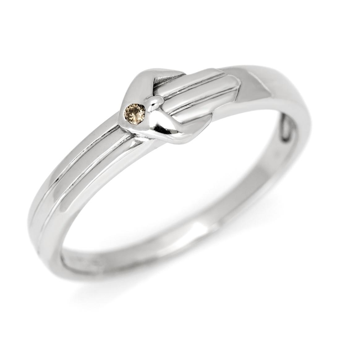 【GWクーポン配布中】SV925 ブラウンダイヤモンド ベルト リング指輪 シルバー925 SILVER スターリングシルバー ダイアモンド 誕生日 4月誕生石 刻印 文字入れ メッセージ ギフト 贈り物 ピンキーリング対応可能