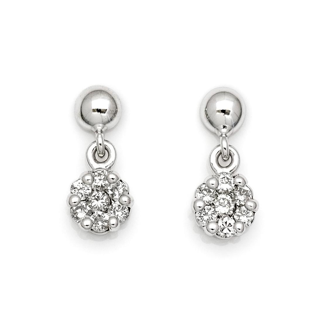 K18 ダイヤモンド 0.10ct スウィング スタッドピアス イヤリング 18K 18金 ゴールド ダブルロック ダイアモンド 誕生日 4月誕生石 記念日 メッセージ ギフト 贈り物