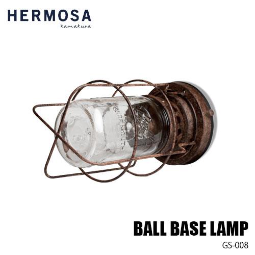 【5月中旬入荷予定】HERMOSA/ハモサ BALL BASE LAMP ボールベースランプ GS-008 デスク&ウォールライト 2WAY 卓上&壁面照明 レトロ&ビンテージ調