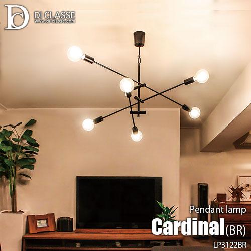 DI CLASSE 大好評です ディクラッセ Cardinal 未使用品 antique brown pendant lamp カーディナル 6灯 天井照明 ペンダントライト ペンダントランプ アンティークブラウン LP3122BR LED対応