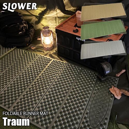 キャンプやアウトドア ヨガ等に便利な折り畳みマット SLOWER 全品送料無料 スロウワー FOLDABLE RUNNER MAT Traum 在庫一掃 トラウム SLW246 寝袋用マット ヨガマット SLW248 折り畳みマット スリーピングマット SLW247 テントマット キャンプマット アウトドアマット