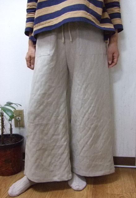 秋冬限定大きいサイズ2L~3L 裏起毛リネンワイドパンツ 裾幅おおきめ4色smtb kw1 10P20Sep1D29WIEH