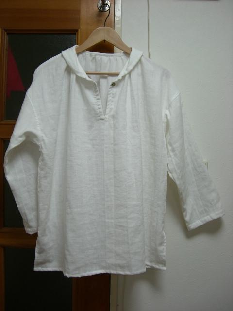 *【小さいサイズS】ダブルガーゼ長袖襟付き・ブラウス(3色)