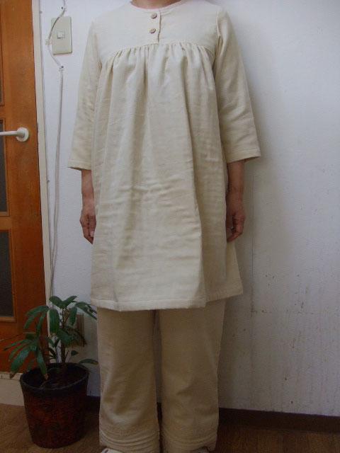送料無料 大きいサイズ2L~3L トリプルガーゼ7分袖チュニック スーツ ルームウエアー 6色 7分袖 fsp2124 パンツ丈選択可 海外輸入 日本製 オンライン限定商品 長袖に変更可