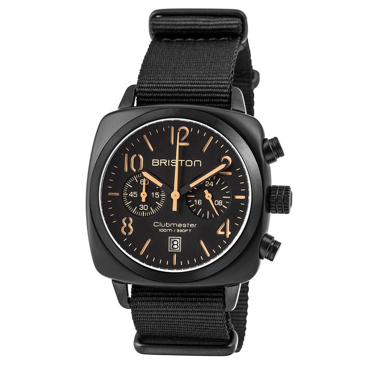 ブリストン BRISTON 公式通販 腕時計 クラブマスタークラシック クロノグラフ CLUBMASTER CLASSIC CHRONOGRAPH BLACK MATT WATCH