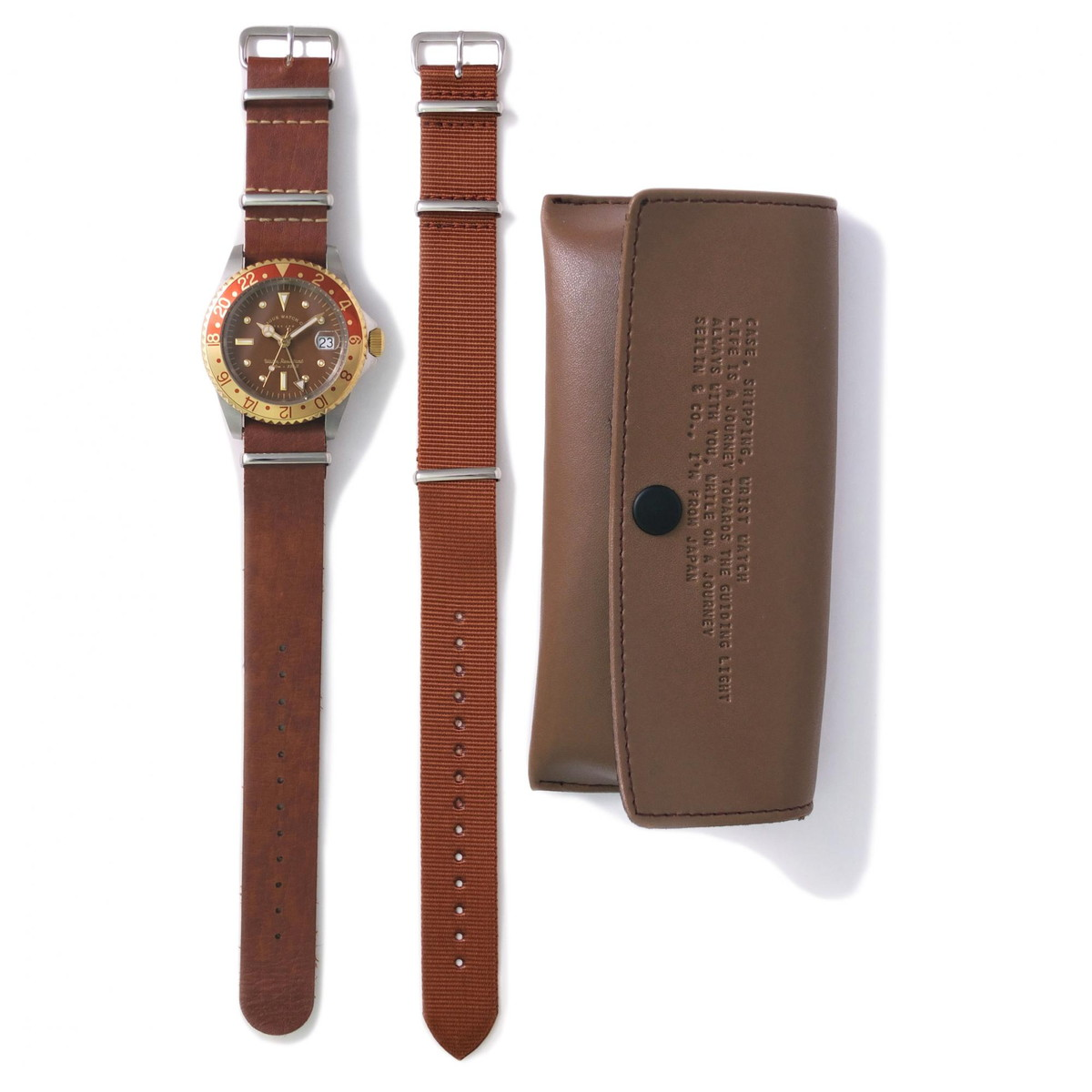 VAGUE WATCH ヴァーグ ウォッチ - VAGUE WATCH BRWN GMT 腕時計