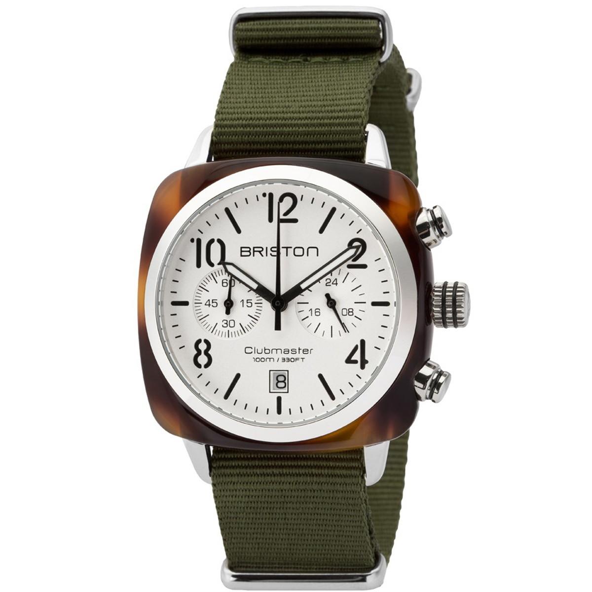 ブリストン BRISTON 公式通販 CLUBMASTER CLASSIC CHRONOGRAPH TORTOISE WATCH / 腕時計